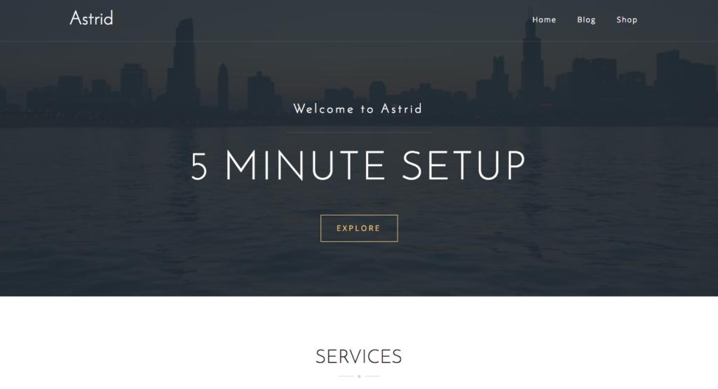 Free WordPress Themes: Astrid