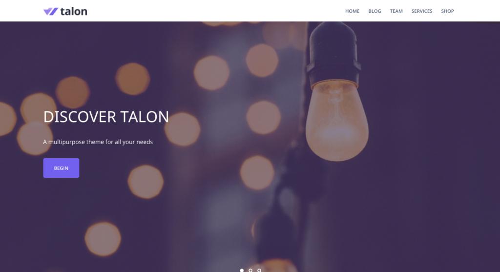 Free WordPress Themes: Talon