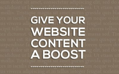 Give Your Website Content a Boost