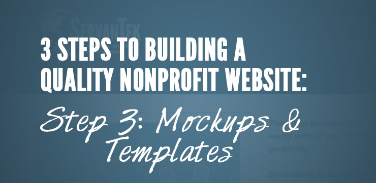 Building a Quality Nonprofit Website: Mockups and Templates