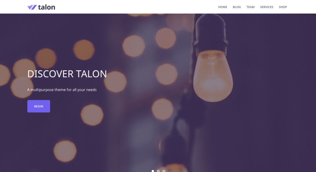 Free WordPress Themes: Talon