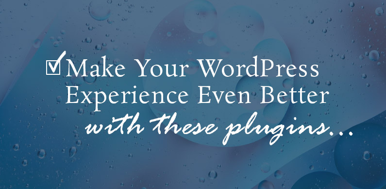 Improve Your WordPress Experience with these Plugins