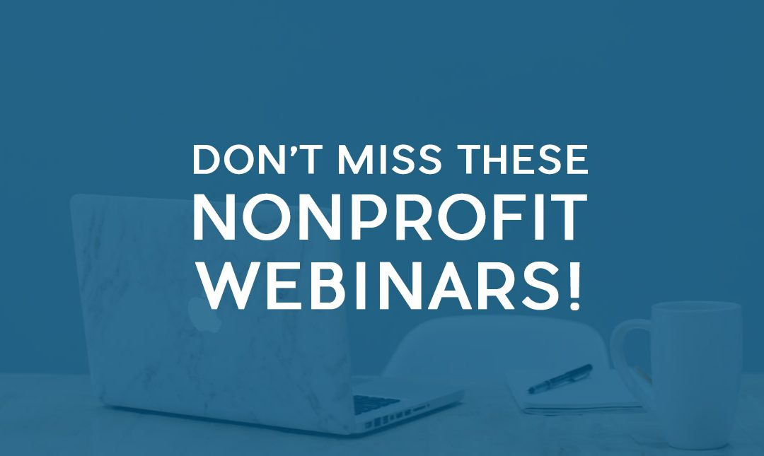 May 2019 Nonprofit Webinars from around the Web